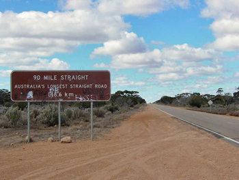 nullabor road sign